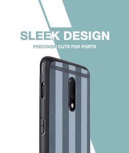 Grey Check Case For OnePlus 7