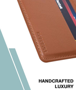 Dark Wood Hybrid Card Wallet