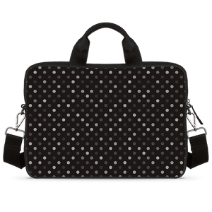Illusive Dots Jade Black Laptop Briefcase
