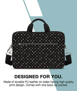 Illusive Dots Jade Black Laptop Briefcase 14""
