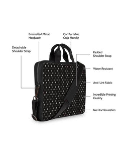 Illusive Dots Jade Black Laptop Briefcase 15.6""