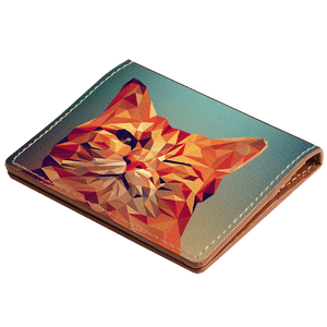 Kitten Wink Art Hybrid Card Wallet