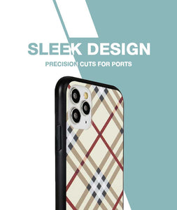 Leather Checkered Yellow Case For iPhone 11 Pro Max