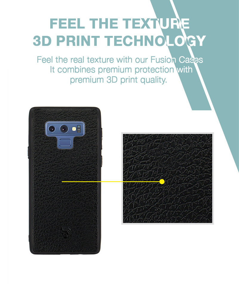 Leather Feel Black Case For Galaxy Note 9
