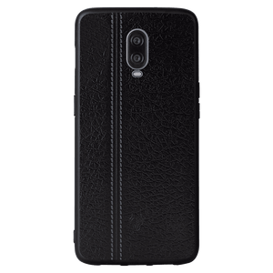 Leather Seam Grey Case For OnePlus 6T