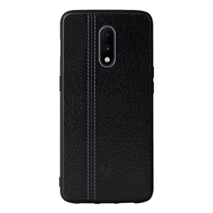 Leather Seam Grey Case For OnePlus 7