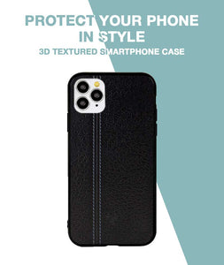 Leather Seam Grey Case For iPhone 11 Pro