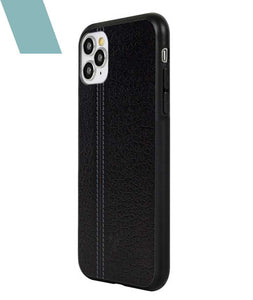 Leather Seam Grey Case For iPhone 11 Pro Max