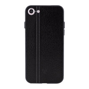 Leather Seam Grey Case For iPhone 7