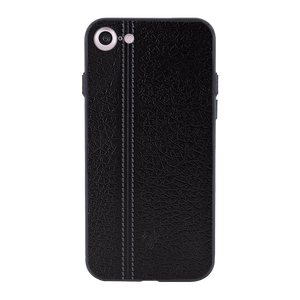 Leather Seam Grey Case For iPhone 8