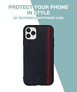 Leather Stripes Case For iPhone 11 Pro