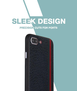 Leather Stripes Case For iPhone 8 Plus