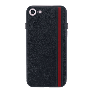 Leather Stripes Case For iPhone 8