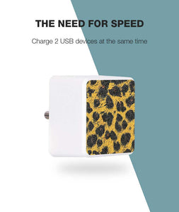 Leopard Skin Bolt Wall Charger