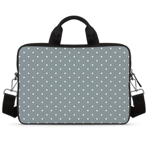 Minimal Classic Dots Jade Black Laptop Briefcase 15.6""
