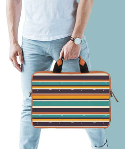 Mix Tape Tan Laptop Briefcase 15.6""