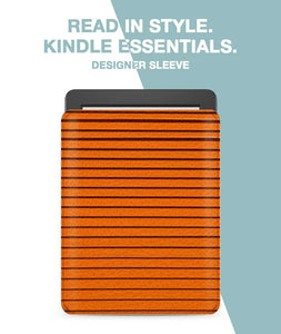 Orange Curtain Sleeve For Kindle Paperwhite