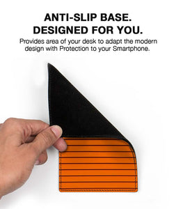 Orange Curtain Designer Smartphone Pad