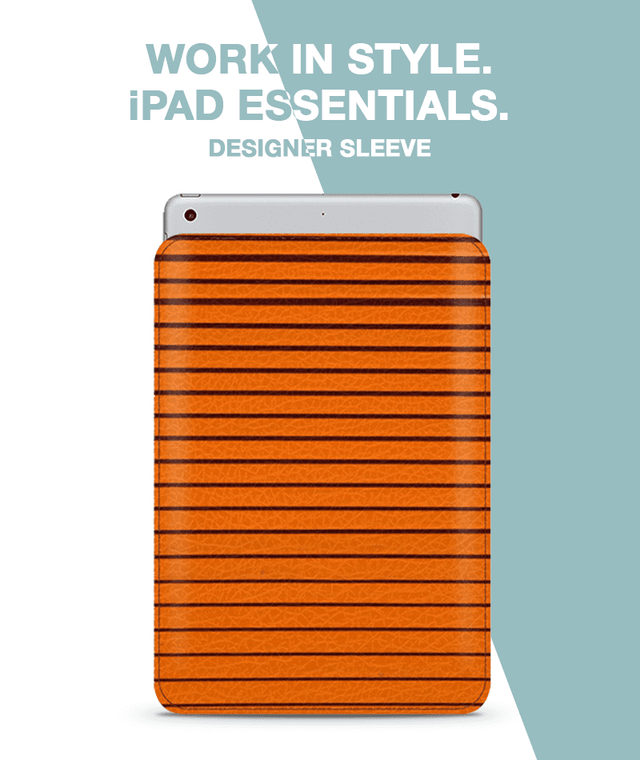 Orange Curtain Sleeve For iPad 9.7