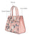 Pastel Bunch Pink Top Handle Bag Medium