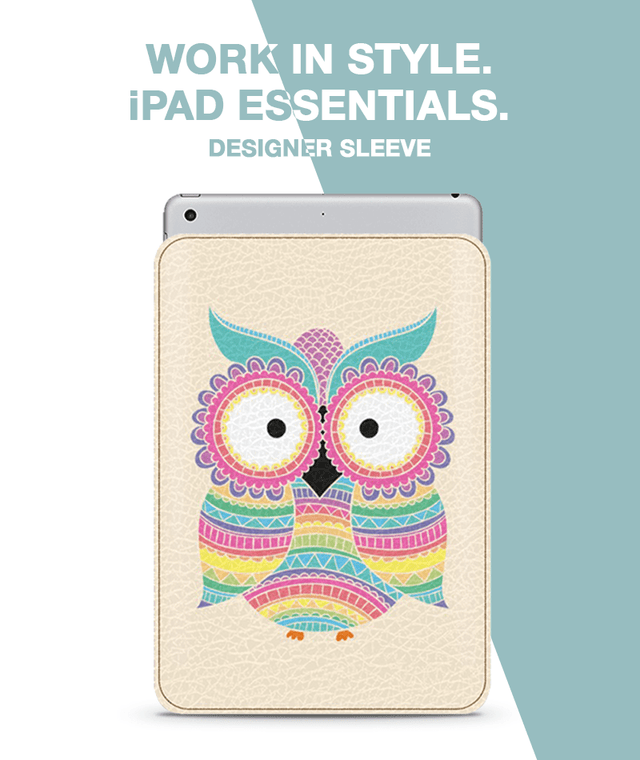 Rainbow Owl Sleeve For iPad mini 4