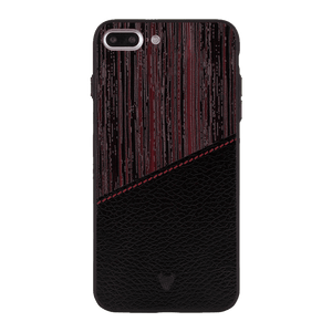Red Wood leather Case For iPhone 7 Plus