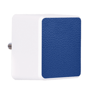 Rich Blue Leather Bolt Wall Charger