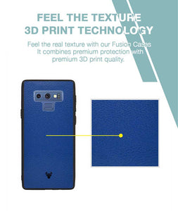 Rich Blue Leather Case For Galaxy Note 9