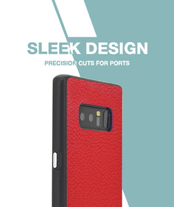 Rich Red Leather Case For Galaxy Note 8