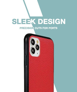 Rich Red Leather Case For iPhone 11 Pro Max