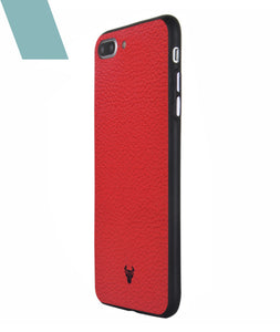 Rich Red Leather Case For iPhone 7 Plus