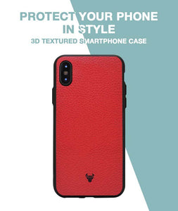 Rich Red Leather Case For iPhone X