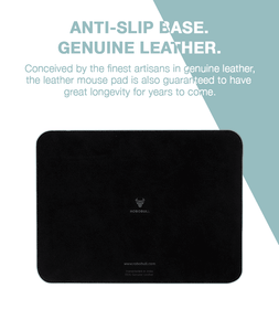 Seriously Handsome Designer Leather Mouse Pad