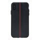 Stitch Leather Black Case For iPhone Xs