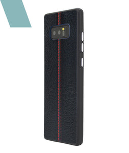 Stitch Leather Black Case For Galaxy Note 8