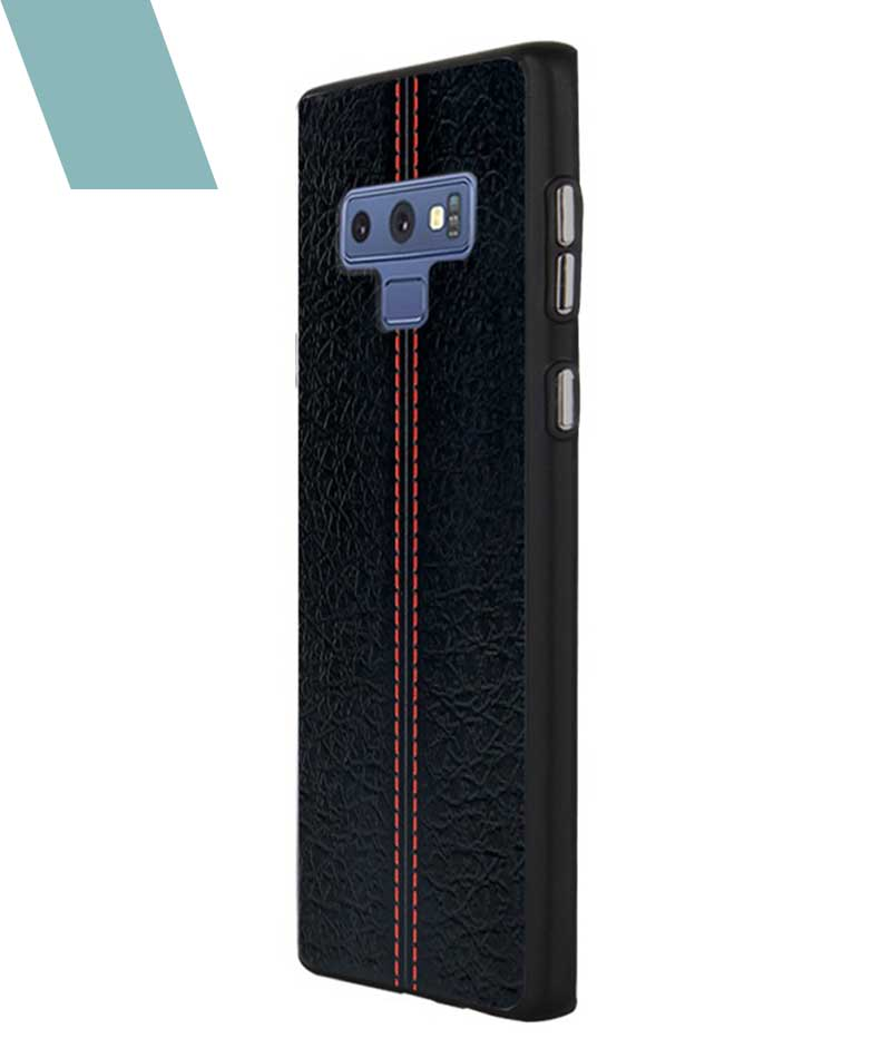 Stitch Leather Black Case For Galaxy Note 9
