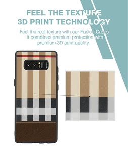 Tan Check Case For Galaxy Note 8