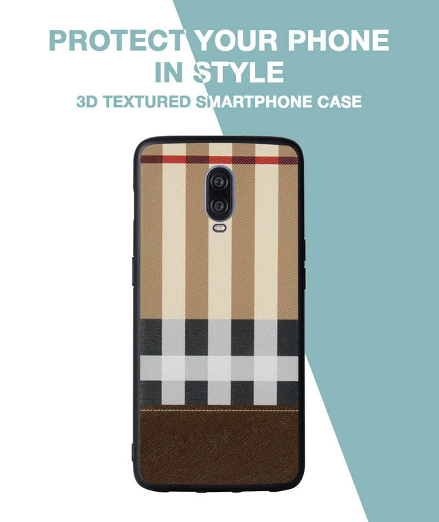 Tan Check Case For OnePlus 6T
