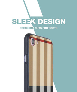 Tan Check Case For iPhone 8