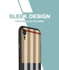 Tan Check Case For iPhone XR