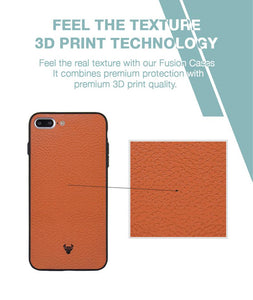 Tan Leather Case For iPhone 8 Plus