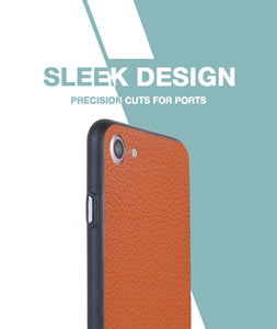 Tan Leather Case For iPhone 7
