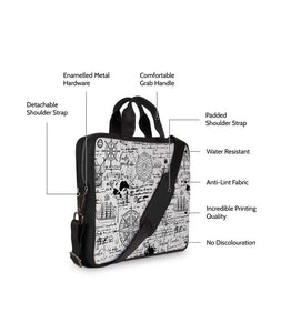 The Lost Direction Map Jade Black Laptop Briefcase