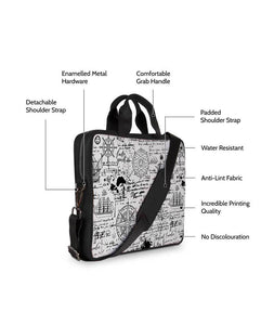 The Lost Direction Map Jade Black Laptop Briefcase 14""