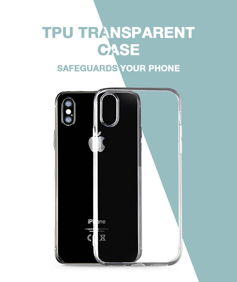 Transparent Soft Case For iPhone Xs