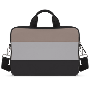 Tri Color Fusion Jade Black Laptop Briefcase 15.6""
