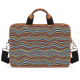 Trippy Crazy Waves Tan Laptop Briefcase 14""