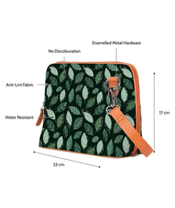 Tropical Leaves Tan Mini Shoulder Bag