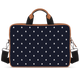 Turtle Dots Tan Laptop Briefcase 15.6""