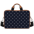 Turtle Dots Tan Laptop Briefcase 14""